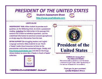 America At Work: President of the United States (Assessmen