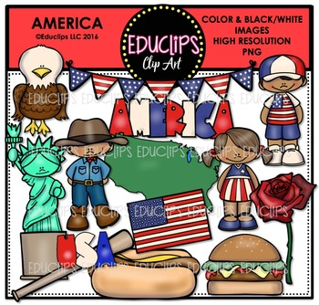 America Clip Art Bundle