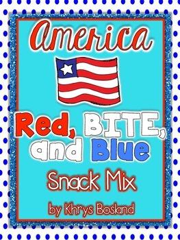 America Patriotic Snack Mix -  Red, BITE, and Blue {Fun Po