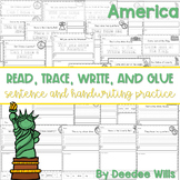America: Read, Trace, Glue, and Draw