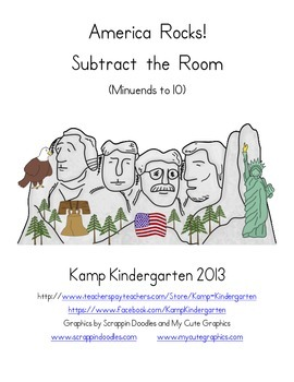 America Rocks! Subtract the Room (Minuends to 10)