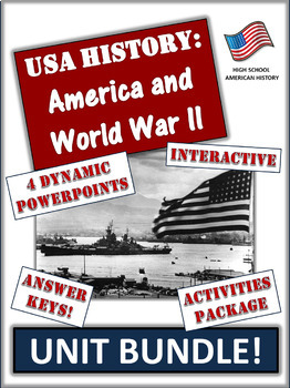 America and World War Two - 85+ Pages/Slides of Learning R