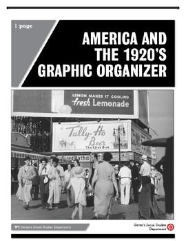 America and the 1920's Graphic Organizer