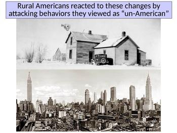 America in the 1920's Prohibition Religion and Intolerance