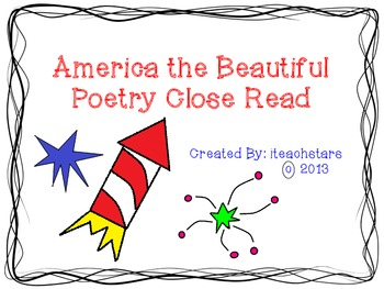 America the Beautiful Poetry Close Read