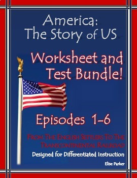 America the Story of US Worksheets and Quizzes: Episode 1-
