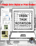 American 1920s Task Rotation Google Drive Interactive Assignments