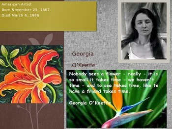 American Artist Georgia O'Keeffe Power Point