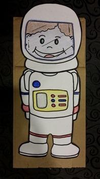 American Astronaut Paper bag puppet