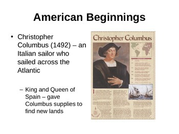 American Beginnings (U.S. History) Powerpoint Notes