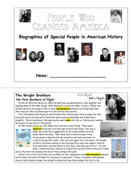 American Biographies - People Who Changed America (Unit Booklet)