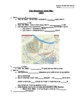 American Civil War 1862 notes