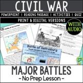 American Civil War Major Battles, US Civil War Major Battles