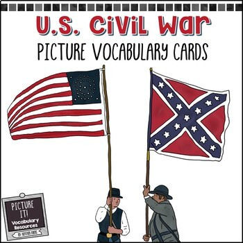 American Civil War - Picture Vocabulary Cards