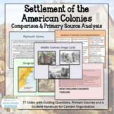 American Colonial Settlement Centers Activity or Archeolog