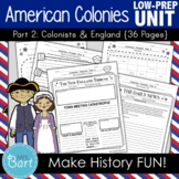 American Colonies Unit {Part 2} - 37 Pages