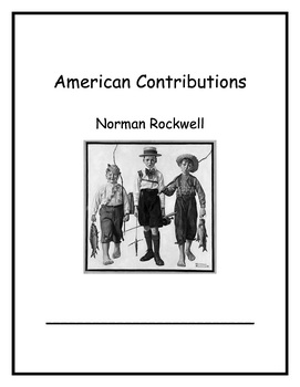 American Contributions Week 6 Norman Rockwell 1st Grade CC