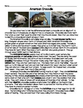 American Crocodile Text