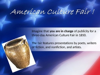 American Culture Fair - using artists authors primary sour