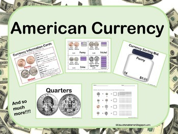 American Currency Kit Worksheets, Puzzles, and so much more!