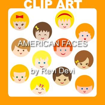 Clip art kids. American Faces Clip art 07004 (teacher resource)
