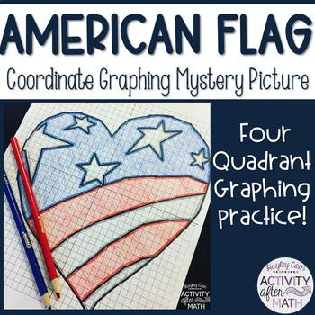 American Flag Heart Coordinate Graphing Ordered Pairs Myst