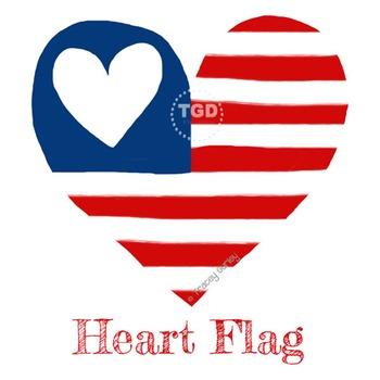 American Flag - Heart Flag Printable Tracey Gurley Designs