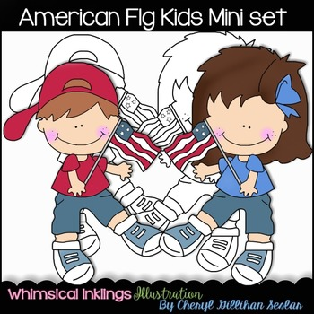 American Flag Kids Mini Set NO LICENSE REQUIRED