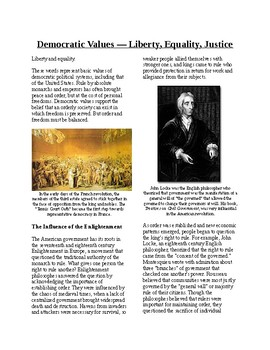 Informational Text - American Government: Democratic Value