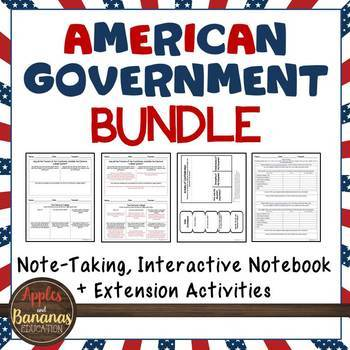 American Government Growing Bundle Interactive Note-taking Activities