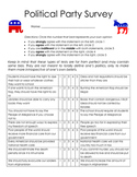 2016 Presidential Election - Political Party Survey
