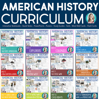 American History Complete Curriculum Growing Mega-Bundle
