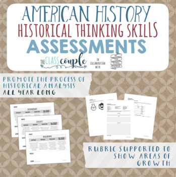 American History Critical Thinking Skills Assessments Grow
