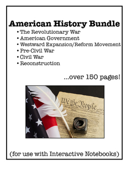 American History Interactive Notebook Foldable Files BUNDLE