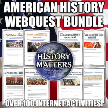American History - MEGA Webquest Bundle - Every American H