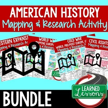 American History Mapping Activity and Research Graphic Org
