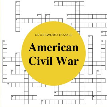 American History: The Civil War Crossword Puzzle