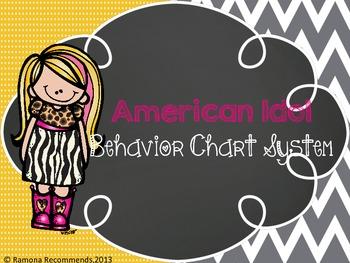 American Idol Behavior Chart