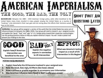 American Imperialism: Group Research & Poster Assignment
