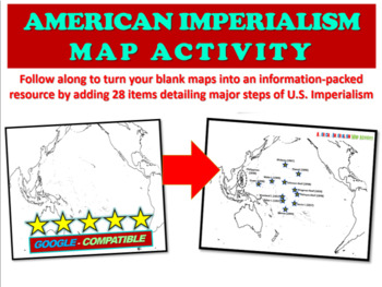 American Imperialism Mapping Activity - Fun, Engaging 25-s