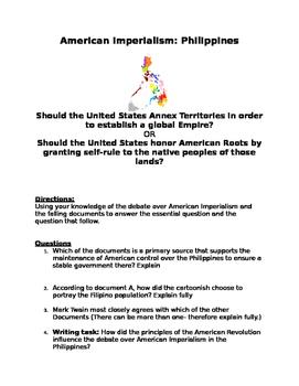 American Imperialism Philippines DBQ: US Annex land 2 esta