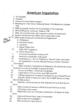 American Imperialism Unit and Resources Part 1/3