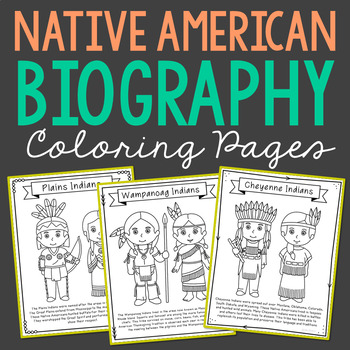 American Indian Tribes Coloring Pages and Posters, Native