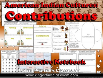 American Indians Interactive Notebook: Contributions of Po