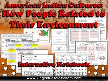 American Indians Interactive Notebook: How People Related