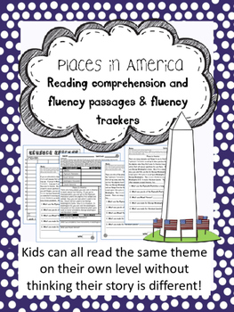 American Landmarks fluency and comprehension leveled passage