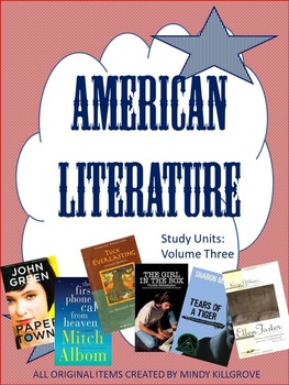 American Literature: Volume Three: A Collection of Novel S