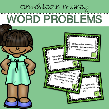 American Money - Word Problems - Task Cards