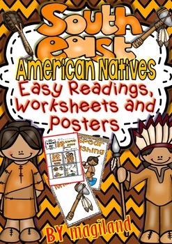 Native American - Set 1 SOUTHEAST- Ready to Print Easy Rea
