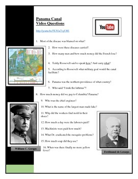 American Pageant Chapter 27 - Panama Canal Video questions